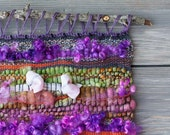 Handwoven Wall Hanging - Bold Beauty - Handspun Indie Dyed Yarn and Wool