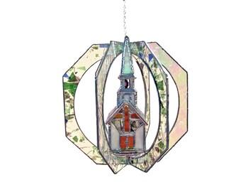 Church Stained Glass Suncatcher