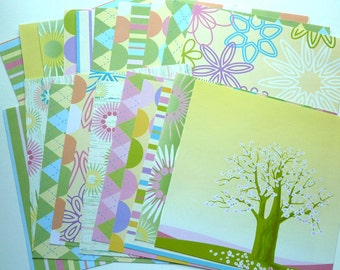 Card Stock Blossoms 23 heets