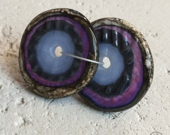 Textured Discs - Purple and Periwinkle