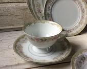 Tea Cup and Saucer Set/Meito Kenwood China