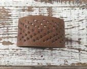 40% FLASH SALE- Reserved-Custom Faux Leather Cuff-Create Your Own-Word Cuff