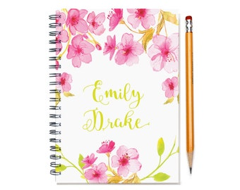 Personalized 18 month planner, Start any month, Weekly planner, 2017-2018 academic planner, personal calendar, SKU: epi pink watercolor