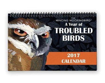 A Year of Troubled Birds 2017 Wall Calendar