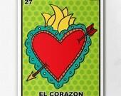Loteria El Corazon Print