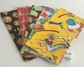 5 for 25 - Special Price - Reusable Eco-Friendly - Reversible 2 Ply Cotton Cloth Lunchbox  Napkins - Kids Children Adults - Set of  5