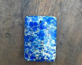 Blue Lace Stone Pendant - DIY JEWELRY