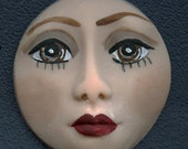 "Polymer Clay Detailed  Brown  Eyed  Face Cab 1 1/2""  AABR 1"