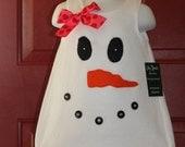 READY to SHIP * Boutique Christmas Snowman Dress Size 2