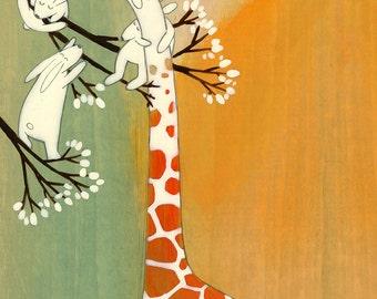 The Sweetest Giraffe - Signed Art Print