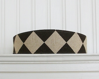 Linen Fabric Headband Womens Headband - Brown and Taupe Headband - Linen Headband - Hair Wrap
