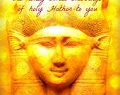 HATHOR'S HONEY Oil lush exotic goddess fragrance blend with resin and gold glitter magick one or two dram bottle