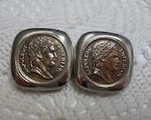 Les Bernard Napoleon Empereur Coin Earrings