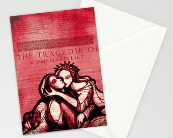 Romeo & Juliet Card Set - Shakespeare Greeting Card Set - Blank Gift Cards