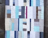 Winter Modern Art Quilt, Wall Hanging, 18 x 22 inches