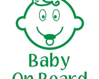 Baby on board decal, vinyl decal, vinyl