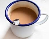 Enamel Mug pin - enamel pin - lapel pin - camping pin - cute pin - camping gift  - blue mug pin -  coffee mug pin - coffee mug gift
