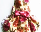 Dog Harness dress Clothes : Floral Garden Party dogharness dress for that Chihuahua Yorkie teacup small dog