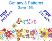 Get any 3 Homeartist Crochet Applique Patterns