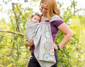 Sewfunky Designer Adjustable Baby Sling Kaleidoscope Grey