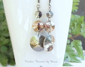 Sterling Silver Earrings Hammered Discs Copper Earrings Mixed Metals Trending Earrings