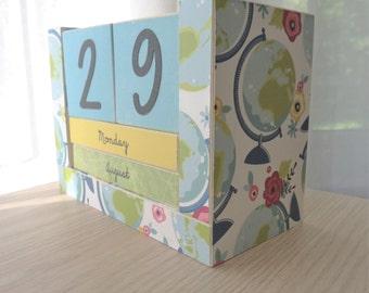 Perpetual Calendar - Month and Day - World Teacher Globe