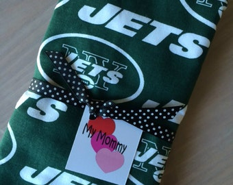 New York Jets Boy or Girl NFL  Burp Cloth Green and White