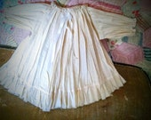 Vintage looking Shabby Muslin Doll Gown