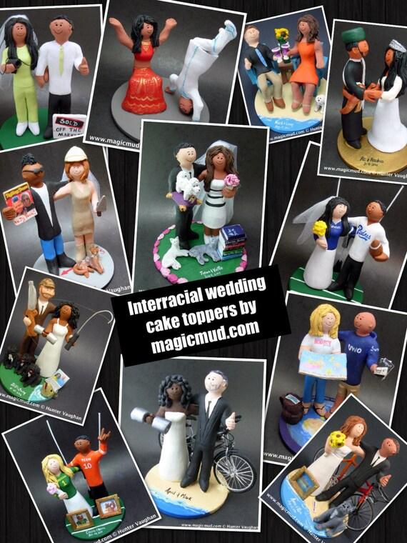 Lasky2 Custom Made To Order Biracial Wedding Cake