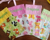 Crayon Roll Up Sample Set Owl Butterfly Bears Animals