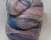 CLEARANCE  Yarn Hollow Foxy Batts Mixed Up Bits of Everything, Stripey Colors that are a Blast to Spin - Foxy Batt No 4-1