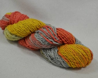 NEW Hand Dyed Organic Cotton Sunflower OOAK Multi Solid Quest by Yarn Hollow 4 ounces 162 Yards Huge Skeins