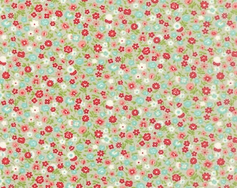 Vintage Picnic - Wildflowers in Gray: sku 55126-15 cotton quilting fabric by Bonnie and Camille for Moda Fabrics - 1 yard