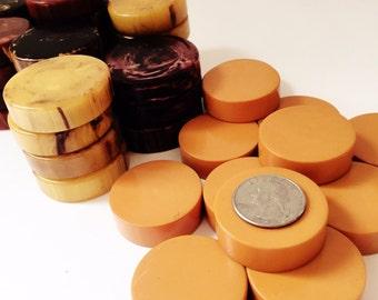 Antique Butterscotch Bakelite Game Chip