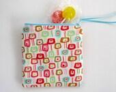 Zipper Coin Purse, Mini Cosmetic Bag, Lollipop Trees, Last One