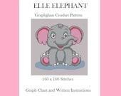 Elle Elephant - Graphghan Crochet Pattern