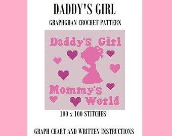 Daddys Girl - Graphghan Crochet Pattern