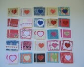 50 mini little notecards, mini heart notecards, tiny shop cards, thank you cards, lunch box love notes, small notecards, mini cards, hearts1