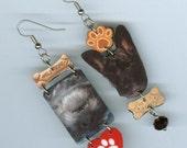 Custom dog earrings and Cookbook earrings