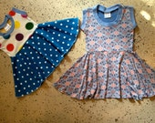 RESERVED for Karina - 2 Baby Dresses 12 month Spicy Toast