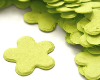 350 Lime Green Five Petal Biodegradable Seed Paper Confetti