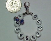 Red, White, and Blue Removable 10 Row Counter Stitch Marker - Item No. 813
