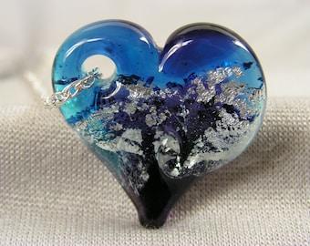 Glass memorial heart (pet) - handmade by Christine Hansen