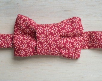 Red Floral Bow Tie for Cats