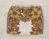 pop floral- a linen project bag