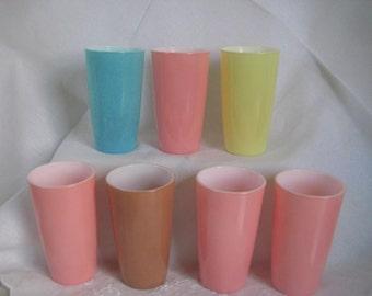 Set of 7 Hazel Atlas Tumblers Mint