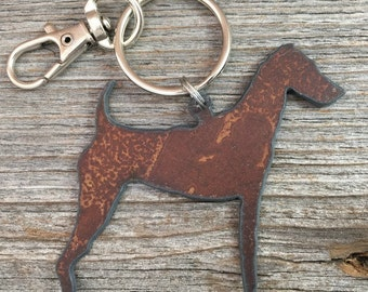 Airedale Christmas Ornament or Key Ring ~ Dog Keychain ~ Pet Key Chain ~ Can be Customized