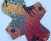 "SALE  7"" LIGHT Cloth Menstrual Pad /  Reusable Sanitary Napkin"