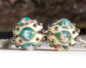 Rustic Lustre Charm - Lampwork Glass Bead by Clare Scott SRA - ONE Bead