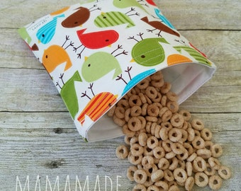 Tweet Tweet Birdie - Medium Reusable Sandwich Bag from green by mamamade